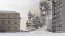 """Una facciata """"rampicante"""" per l'Universita' delle Arti Applicate di Vienna"""