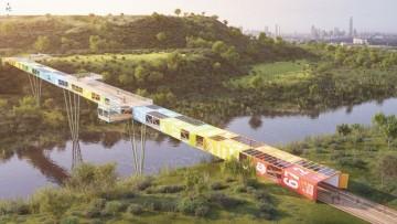 L'eco-ponte realizzato dai container a Tel Aviv