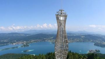 Pyramidenkogel, in Carinzia la torre panoramica in legno da 'record'