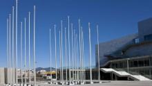 La Sala concerti di Salonicco, tra contrasti e giochi di luce