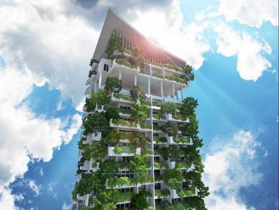Un grattacielo verde di 46 piani clearpoint residences for Piani di architetto domestico