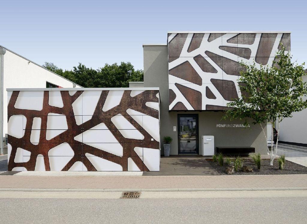 Una facciata grafica per la casa delle giraffe - Facciata esterna casa ...