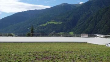 Un tetto verde per un edificio industriale in Trentino