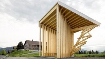 Sette pensiline d'autore per un villaggio austriaco