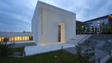 Un 'velario' esterno di cemento bianco per la nuova chiesa dedicata a San Giovanni XXIII