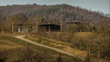 Architettura del vino: la cantina Podernuovo a San Casciano dei Bagni