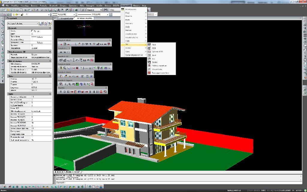 Easyarch 3d il modulo parametrico per il disegno for Programmi architettura 3d gratis