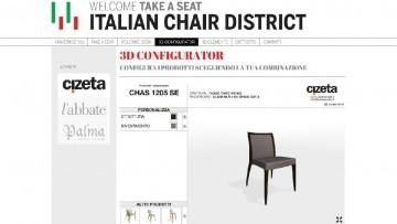 Il configuratore 3D per il mondo della sedia