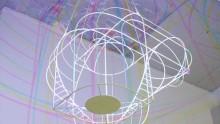 I colori primari nel lampadario di Dennis Parren