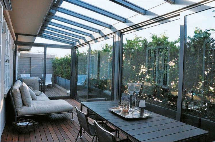 Progettazione esterni verande in vetro e giardini d 39 inverno - Terrazzi di design ...