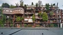 La 'casa tra gli alberi' di Luciano Pia a Torino