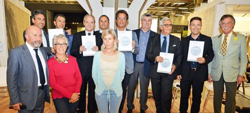 Un'immagine della premiazione del 2014