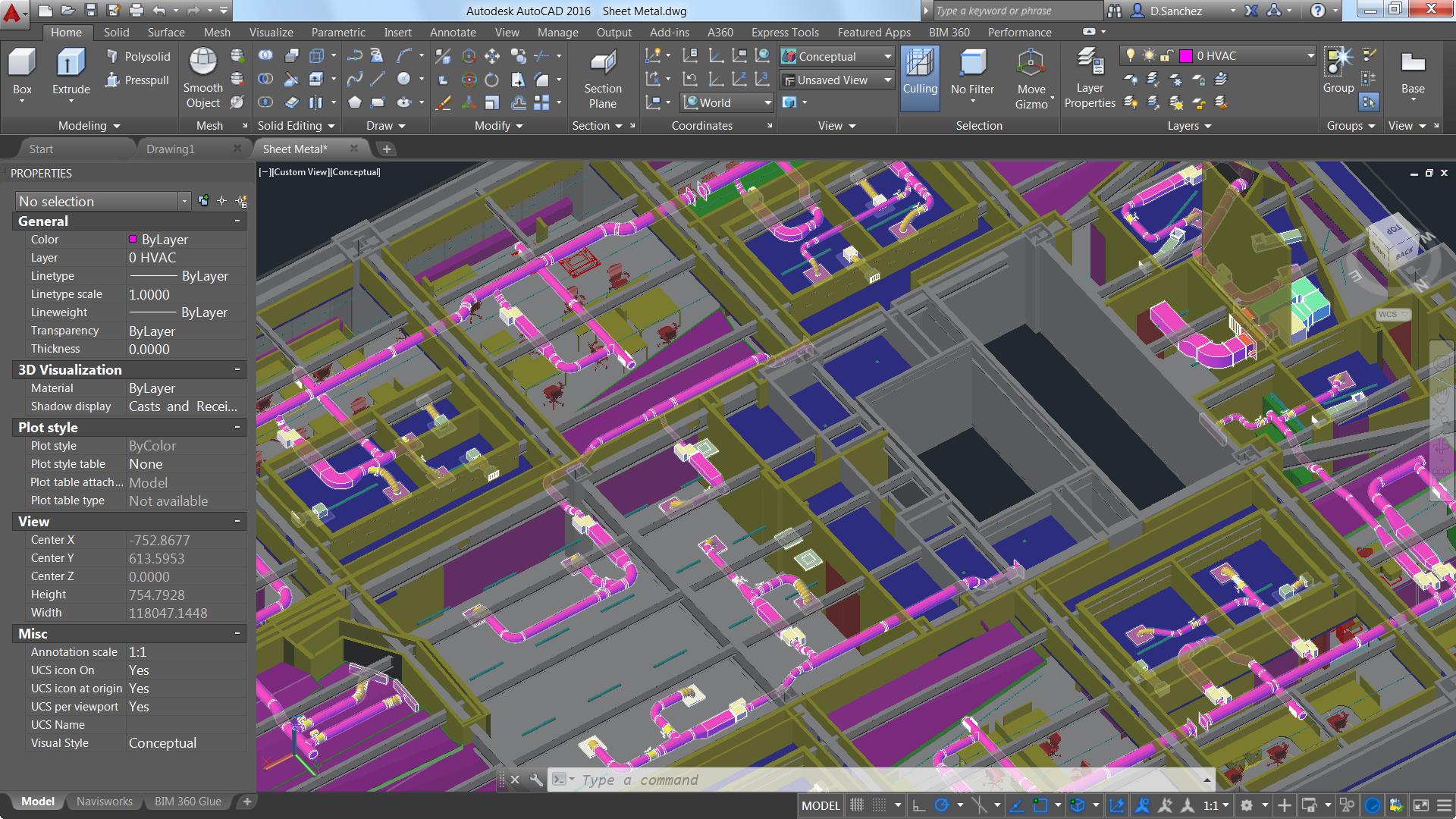 Una schermata di Autodesk Building Suite 2016