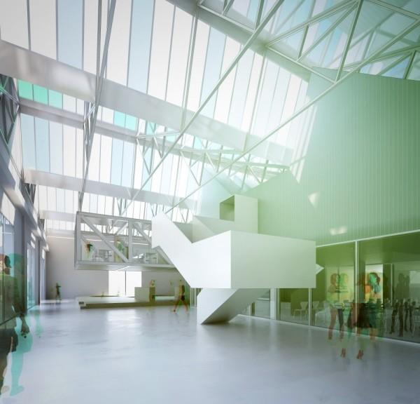 Il progetto del nuovo Centro per la conoscenza e la cultura della Fondazione Golinelli a Bologna, firmato da Diverserighestudio