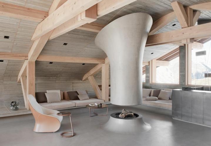 Interior design il camino come elemento compositivo degli spazi