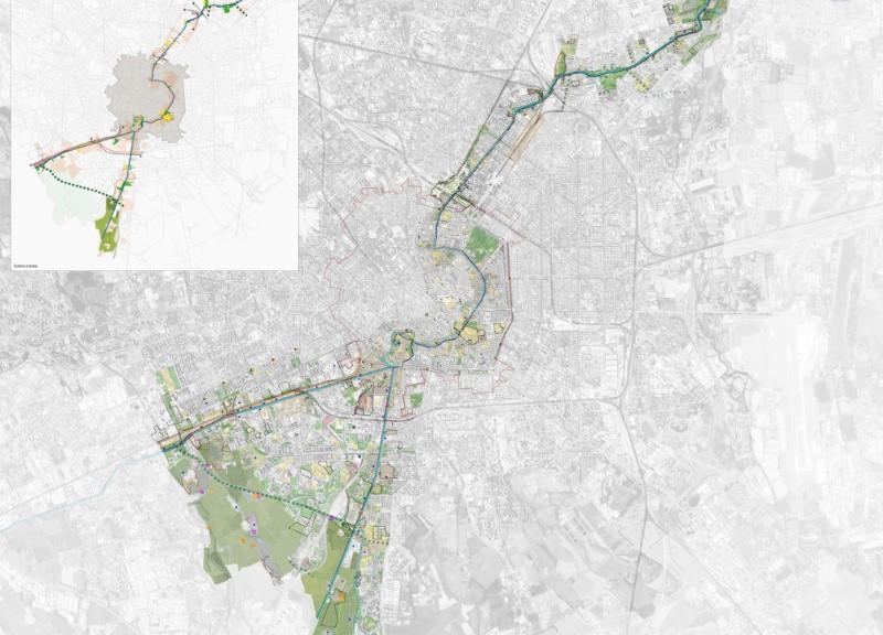 I Sistema dei Navigli nell'ambito milanese (fonte: Comune di Milano)