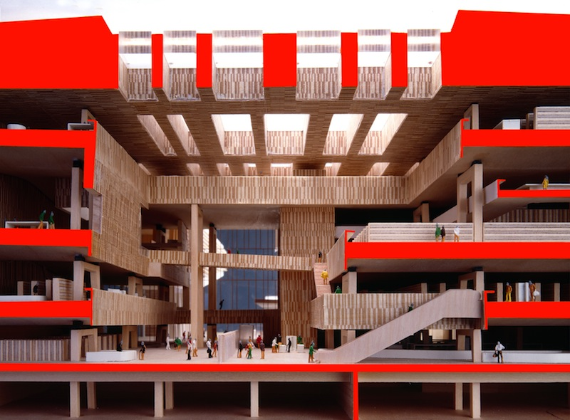 Il progetto della Beic, vinto da Bolles+Wilson nel 2002 (immagine: Tomasz Samek)