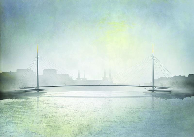 Il design minimalista del futuro ponte sul Tamigi firmato Bystrup e Robin Snell © Bystrup
