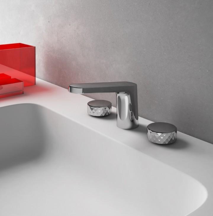 FIMA_Texture_X_lavabo_Cromo_Nero_Opaco