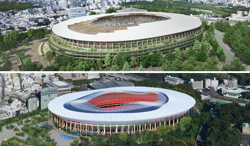 Le due nuove proposte per lo Stadio Olimpico di Tokyo 2020 © japan sport council