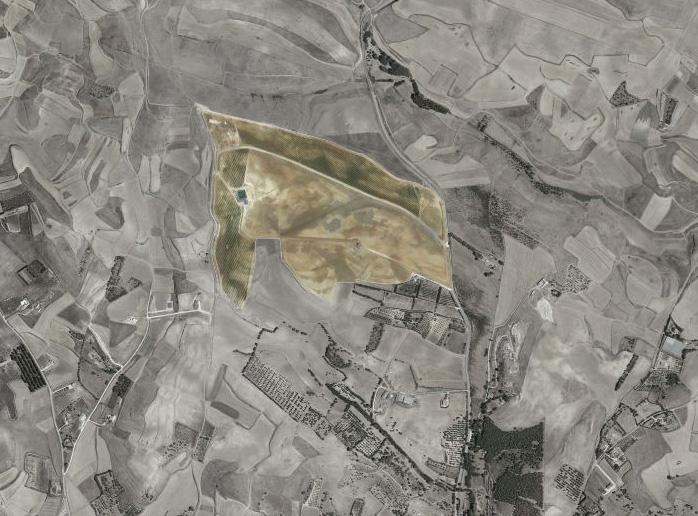 foto aerea con parcella