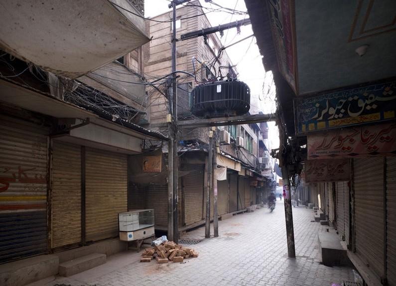 L'antico centro storico di Multan allo stato attuale