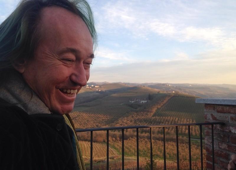 Patrick Blanc nelle Langhe (foto: Liana Pastorin)