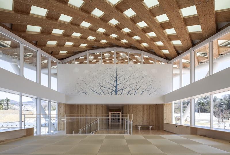 La nuova stazione di Onagawa progettata da Shigeru Ban © Hiroyuki Hirai