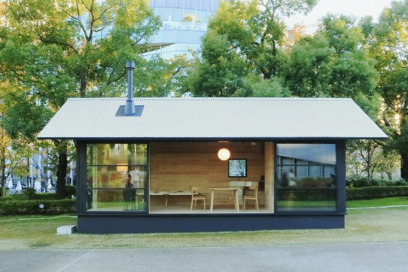Il progetto di 'Muji Hut' di Naoto Fukasawa © Muji