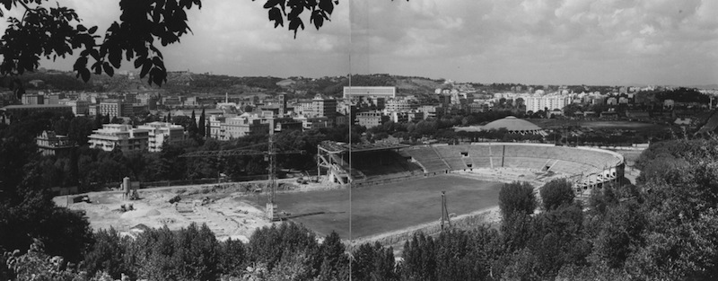 Cantiere dello Stadio Flaminio (fonte: Pier Luigi Nervi Project)