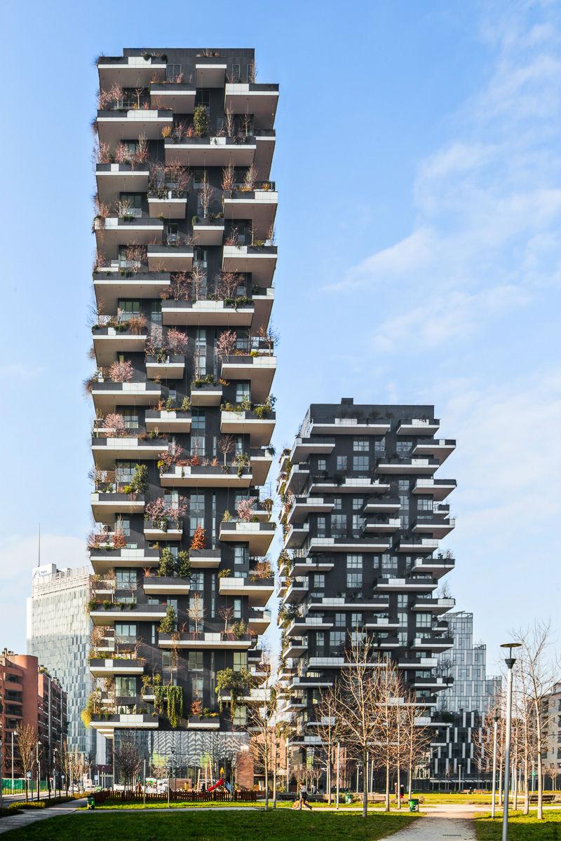 Il bosco verticale di stefano boeri fotografato da sim n for Bosco verticale architetto