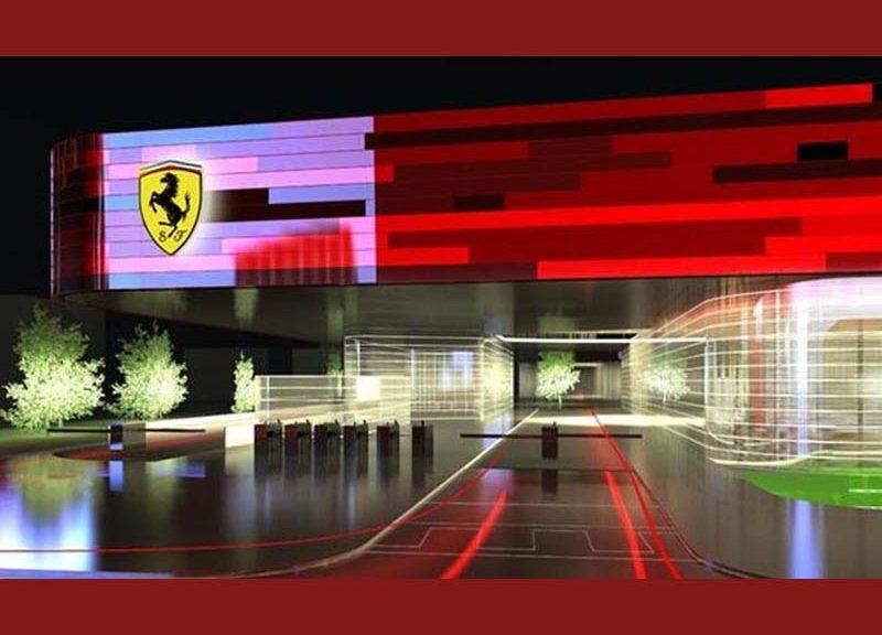 Rendering dell'accesso allo Stabilimento Nuova Gestione Sportiva Ferrari