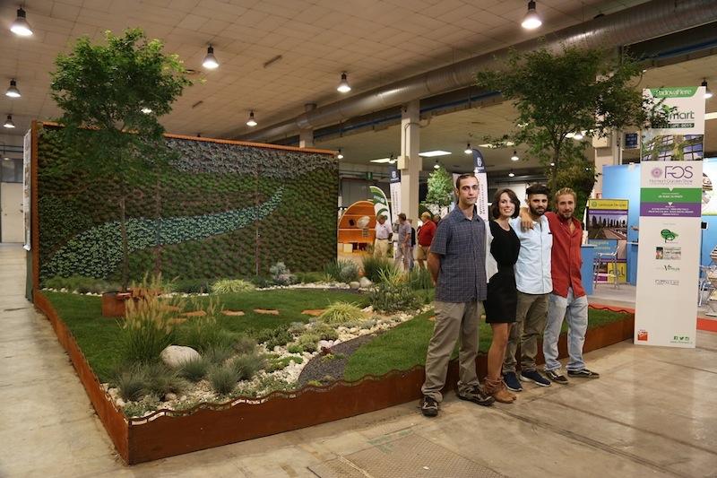 I vincitori dell'edizione 2015 del concorso Flormart Garden Show: Anna Martellato, Valentino Dal Bene, Alvise Anchel Ariibas, Andrea Rocco