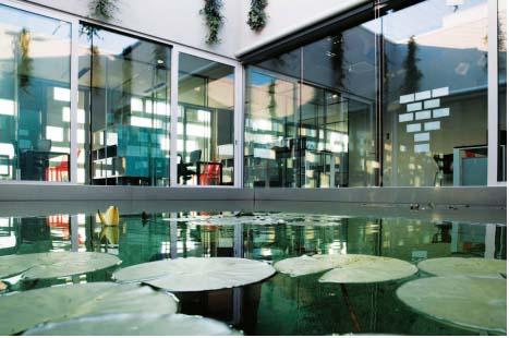 Marsigli 25_FIG 2_Ninfee in una vasca dÔÇÖacqua, Progetto SUN68, Noventa di Piave (VE), C&P Architetti, 2009 (Foto Alessandra Chemollo, Stefano Ferrando)