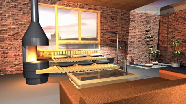 Un render del progetto vincitori del concorso Adi - Progetto Fuoco, dell'architetto Stefano Lucchini