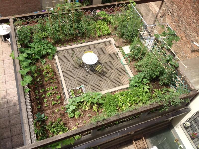 Uno dei progetti di orto sui tetti curato da Orti Alti, studio che sarà protagonista dell'incontro torinese di ROOFdinners