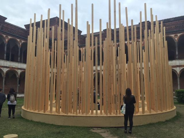 """Radura di Stefano Boeri Architetti, parte di """"Open Borders"""" presso l'Università Statale di Milano"""