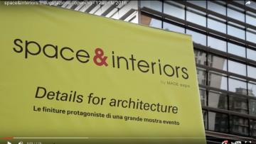 space&interiors: il video della rassegna dedicata alle finiture per l'architettura