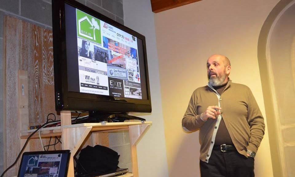 L'architetto Davide Olivieri durante una sessione di formazione (Foto: OTP 70)