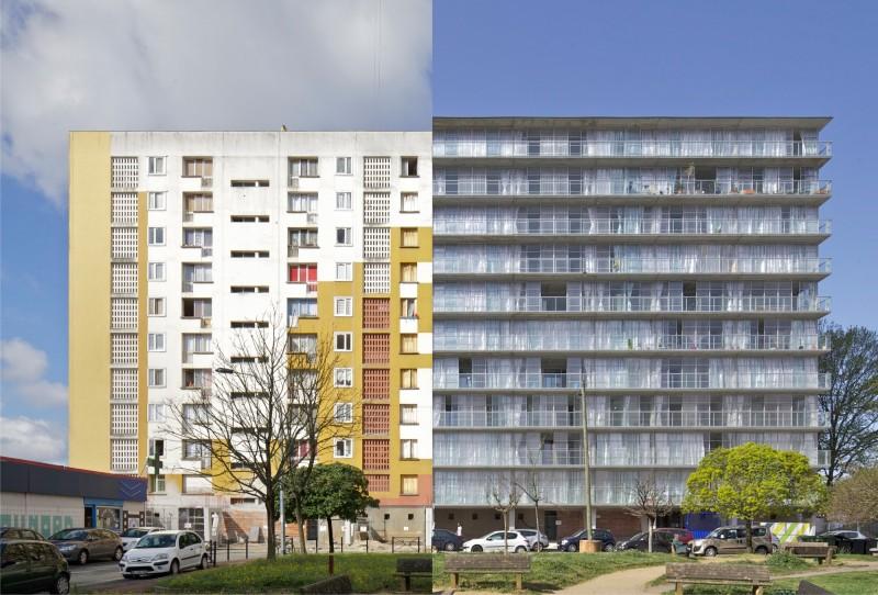 La riconversione del complesso di 530 abitazioni nel quartiere Grand Parc a Bordeaux (Anne Lacaton & Jean Philippe Vassal, Frédéric Druot e Christophe Hutin, 2011) - Foto: Philippe Ruault