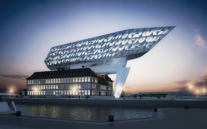 Render della Port House ad Anversa: il completamento è previsto nei prossimi mesi (foto: Zaha Hadid Architects)