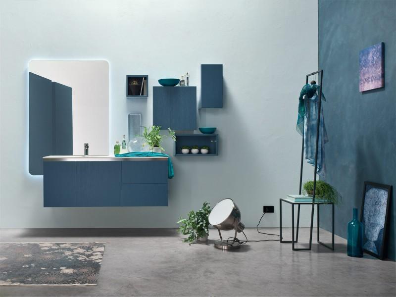 Arredo bagno con ak laccato di arcom arriva un nuovo stile per il bagno - Piastrelle bagno opache ...