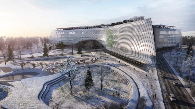 Come sarà la nuova sede della Sberbank presso il campus di Skolkovo © Zaha Hadid Architects