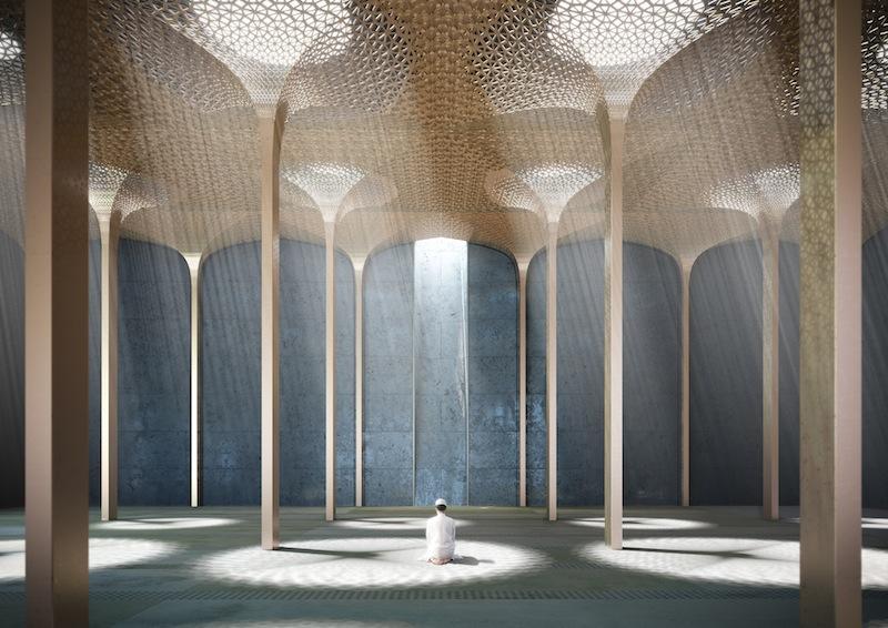 All'interno della futura moschea di Abu Dhabi © AL_A