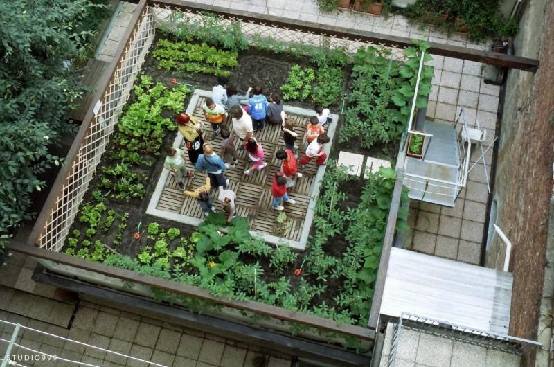 Children workshop sul tetto di studio999
