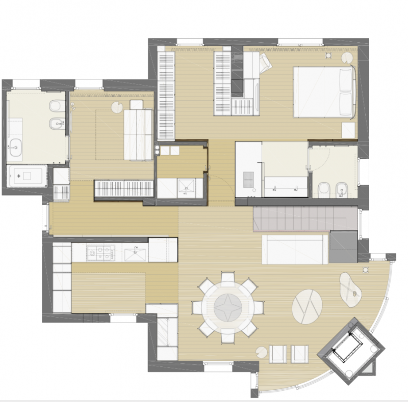 Casa Luna, Piano Terra (Buratti Architetti)
