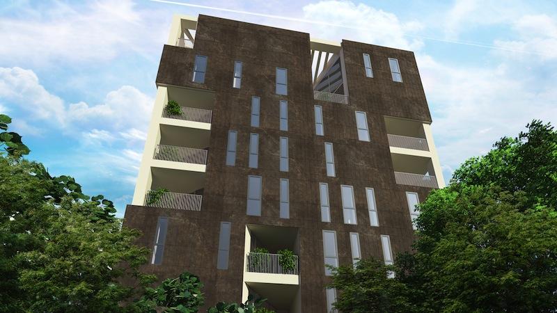 Come sarà il futuro edificio residenziale Soderini54 a Milano © Goring & Straja