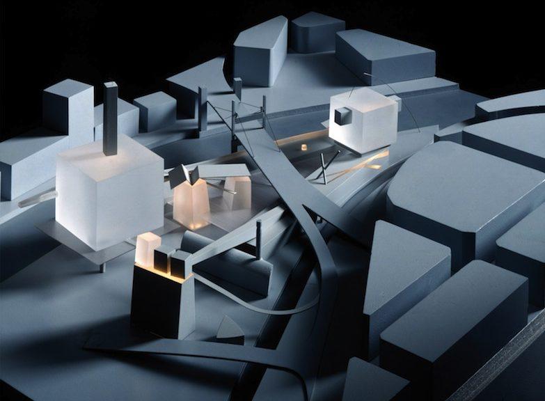 La proposta di Coop Himmelb(l)au per il Guggenheim Museum di Bilbao, che noi conosciamo secondo le forme volute da Frank Gehry © Markus Pillhofer