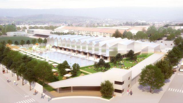 La nuova piscina di Chambéry degli italo-francesi ALN Atelien Architecture