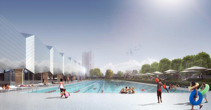 La nuova piscina di chamb ry degli italo francesi aln for Chambery metropole piscine